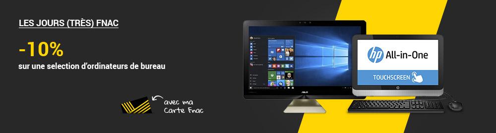 Informatique tablette ordinateur pc mac acheter sur - Fnac ordinateur de bureau ...