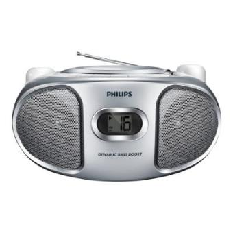 Radio Lecteur K7 CD et MP3 PHILIPS AZ105S GRIS