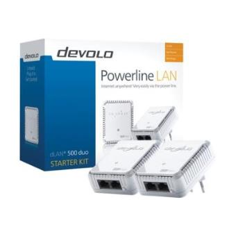 devolo dlan 500 duo starter kit 9114 powerline adapters. Black Bedroom Furniture Sets. Home Design Ideas