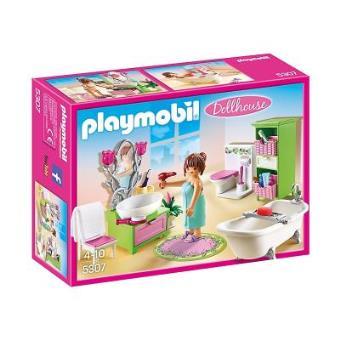 Playmobil dollhouse 5307 salle de bains et baignoire for Prix salle de bain playmobil