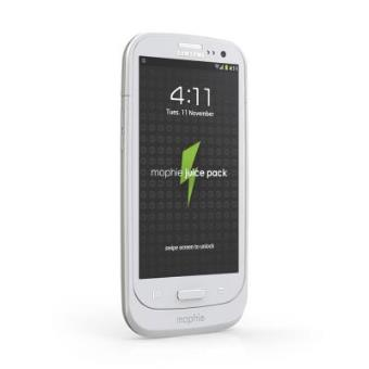 MOPHIE Juice Pack Air Coque batterie pour Galaxy S i White a w