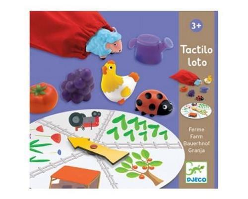 Retrouver au toucher un fruit, un insecte, un animal ou un accessoire. Un jeu de reconnaissance tactile pour retrouver différents éléments de la ferme.