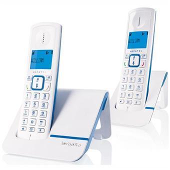 Alcatel versatis f230 duo blue camaieu digitale draadloze telefoon zonder antwoordapparaat - Camaieux verkoop ...