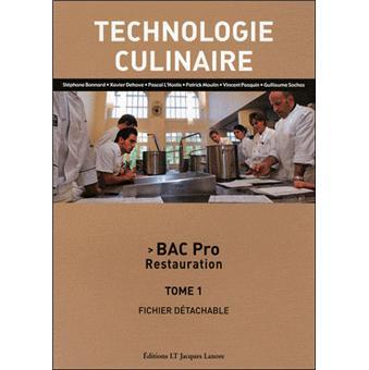 Technologie culinaire bac pro restauration broch for Technologie cuisine bac pro