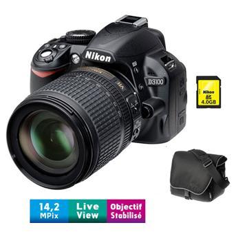 Pack Fnac Nikon D Obj AF S DX VR  mm f G Fourre tout SDHC Go a w