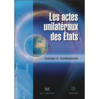 Actes unilatéraux des états