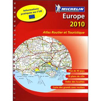 atlas europe edition 2010 format a4 spirale broch collectif michelin achat livre. Black Bedroom Furniture Sets. Home Design Ideas