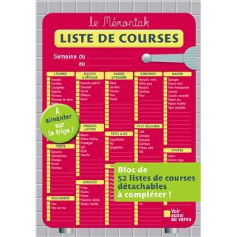 Liste de courses memoniak edition 2012 broch - Liste de courses indispensable ...