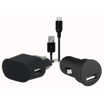 modelabs pack de charge micro usb noir chargeur pour t l phone mobile achat prix fnac. Black Bedroom Furniture Sets. Home Design Ideas