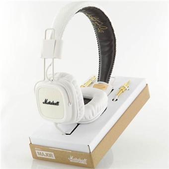 casque marshall major blanc micro casque audio achat. Black Bedroom Furniture Sets. Home Design Ideas