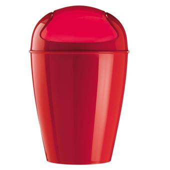 koziol del xl poubelle 30l rouge acheter sur. Black Bedroom Furniture Sets. Home Design Ideas
