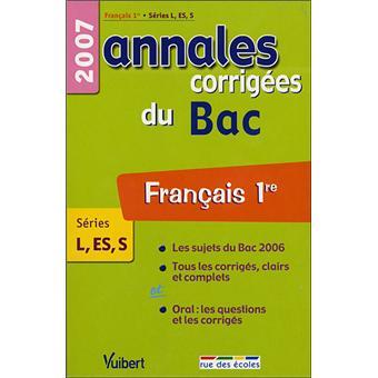annales bac francais dissertation
