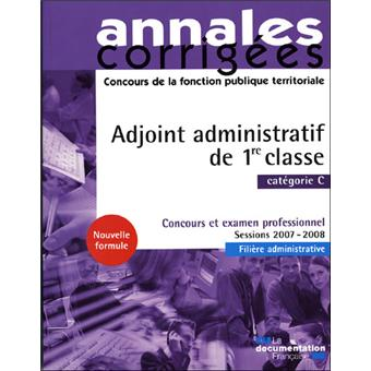 Adjoint administratif de 1 re classe 2008 cat gorie c - Grille indiciaire adjoint administratif ere classe ...