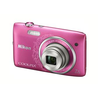 Nikon CoolPix S3500 Rose Arabesque Appareil photo numérique compact