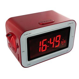 bigben rr30 rouge m tal avec projecteur radio r veil meilleur prix. Black Bedroom Furniture Sets. Home Design Ideas