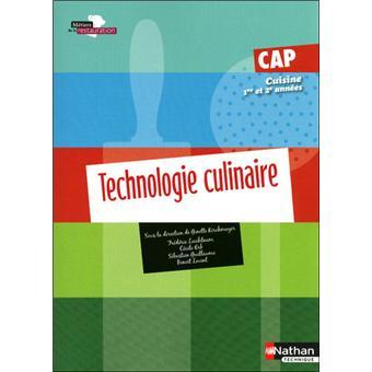 Technologie culinaire cap cuisine livre de l 39 l ve for Technologie cuisine