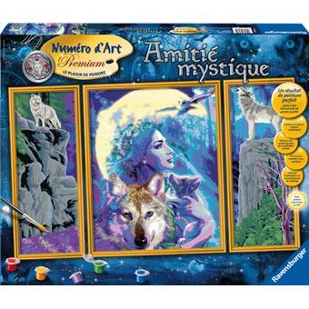 ravensburger num ro d 39 art adultes triptyque amiti mystique 80 x 50 cm peinture acheter sur. Black Bedroom Furniture Sets. Home Design Ideas