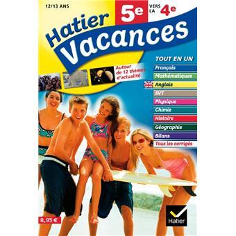 Meilleur cahier de vacances 5ème vers 4ème