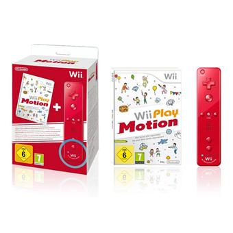 Manette wiimote plus rouge jeu wii play motion - Comment connecter manette wii a la console ...