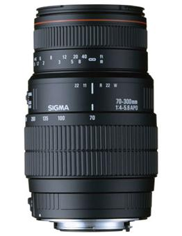 Objectif reflex sigma dg 70 300 mm f 4 5 6 macro for Objectif a miroir pour nikon