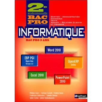 Informatique 2e bac pro office