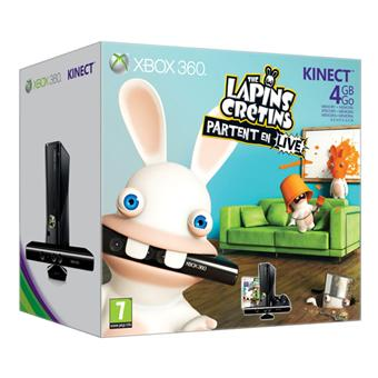console xbox 360 4 go microsoft capteur kinect the. Black Bedroom Furniture Sets. Home Design Ideas