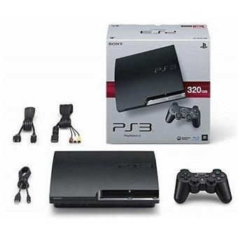 console ps3 slim 320 go sony playstation 3 sony console de jeux de salon achat prix fnac. Black Bedroom Furniture Sets. Home Design Ideas