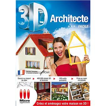 3d architecte facile 14 sur jeux vid o achat prix fnac. Black Bedroom Furniture Sets. Home Design Ideas