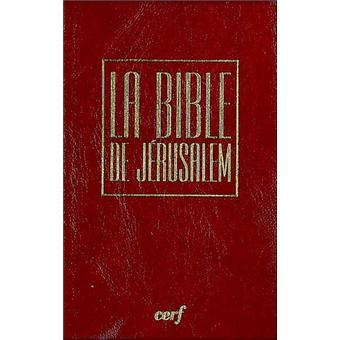 La Bible De J 233 Rusalem Format Poche En Vinyl Bordeaux