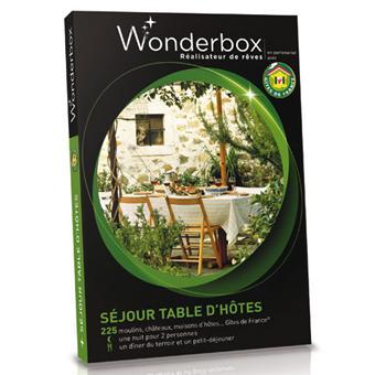 Wonderbox coffret 1 nuit s jour table d 39 h tes coffrets - Wonderbox sejour prestige table d hotes ...