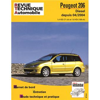revue technique automobile 694 2 peugeot 206d broch. Black Bedroom Furniture Sets. Home Design Ideas