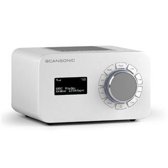scansonic r4 blanc radio achat prix fnac. Black Bedroom Furniture Sets. Home Design Ideas