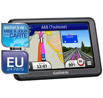 gps garmin n vi 2445 lm gamme advance europe gratuit vie mise jour de la carte gps. Black Bedroom Furniture Sets. Home Design Ideas