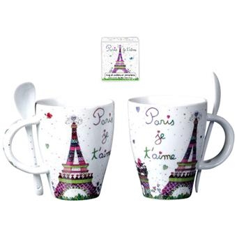 foxtrot mug cuill re paris je t 39 aime achat prix fnac. Black Bedroom Furniture Sets. Home Design Ideas