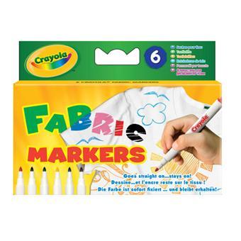 Crayola 6 feutres pour tissus crayon de couleur et feutres acheter sur - Enlever feutre sur tissu ...