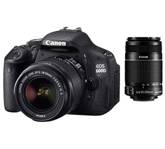 Canon EOS 600D + 2 Obj. Canon EF-S IS II : 18 - 55 mm f/3.5 - 5.6 + 55 - 250 mm f/4.0 - 5.6