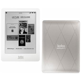 Liseuse numérique Kobo by Fnac Kobo Glo Blanc/Silver eBook