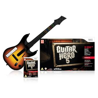 guitar hero 5 guitare wii accessoire console de jeux achat prix fnac. Black Bedroom Furniture Sets. Home Design Ideas