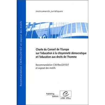 Charte du Conseil de l'Europe sur l'éducation à la citoyenneté démocratique