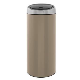brabantia 425004 poubelle touch bin 30 litres taupe acheter sur. Black Bedroom Furniture Sets. Home Design Ideas