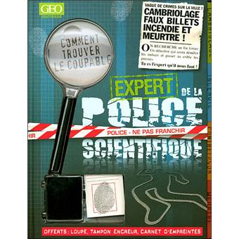 expert de la police scientifique livre avec une loupe et un kit empreintes digitales coffret. Black Bedroom Furniture Sets. Home Design Ideas