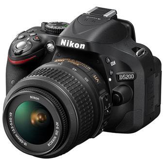 Nikon D5200 Noir + Obj. Nikon AF S DX 18 55 VR II f/3.5 5.6 G