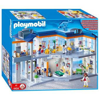 playmobil 4404 grand h pital playmobil achat prix fnac. Black Bedroom Furniture Sets. Home Design Ideas