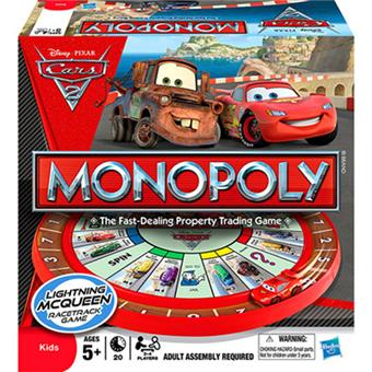 hasbro monopoly cars 2 jeu de strat gie achat prix fnac. Black Bedroom Furniture Sets. Home Design Ideas