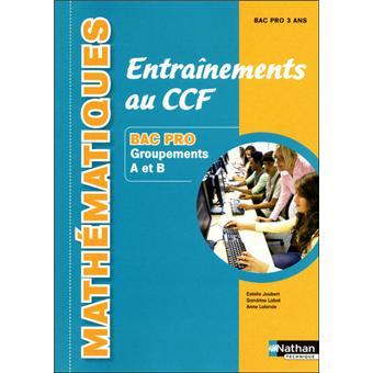 Entrain ccf maths bac pro grou
