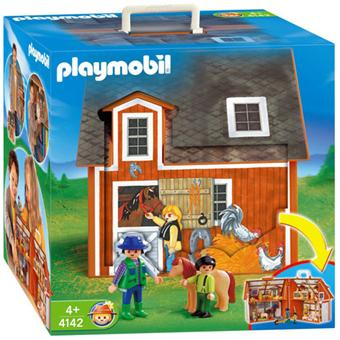 playmobil 4142 ferme transportable playmobil achat. Black Bedroom Furniture Sets. Home Design Ideas
