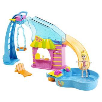 Mattel polly pocket piscine et toboggan univers for Piscine polly pocket