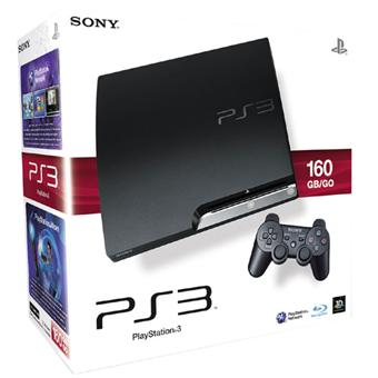 console ps3 slim 160 go sony console playstation 3 sony. Black Bedroom Furniture Sets. Home Design Ideas