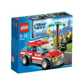 lego city 60001 la voiture du chef des pompiers lego achat prix fnac. Black Bedroom Furniture Sets. Home Design Ideas