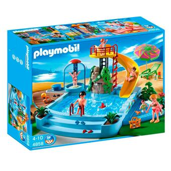 Playmobil 4858 piscine avec toboggan playmobil achat for Piscine playmobile 4858